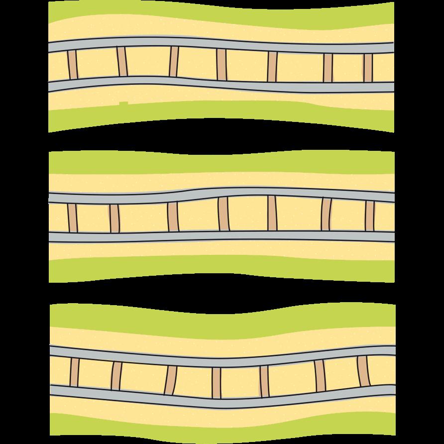 Adesivi murali binari dritti leostickers for Planner cameretta